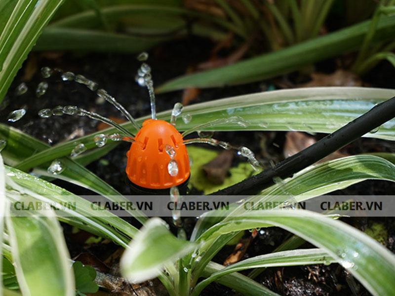 91228 dau phun 8 tia claber dep 1 Đầu tưới 8 tia   Chân cắm/ 0 40 l/h adjustable shrubbler