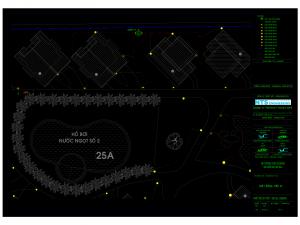 Bản vẽ AutoCad và thuyết minh thiết kế hệ thống tưới tự động khu resort Carmelina Hồ Tràm