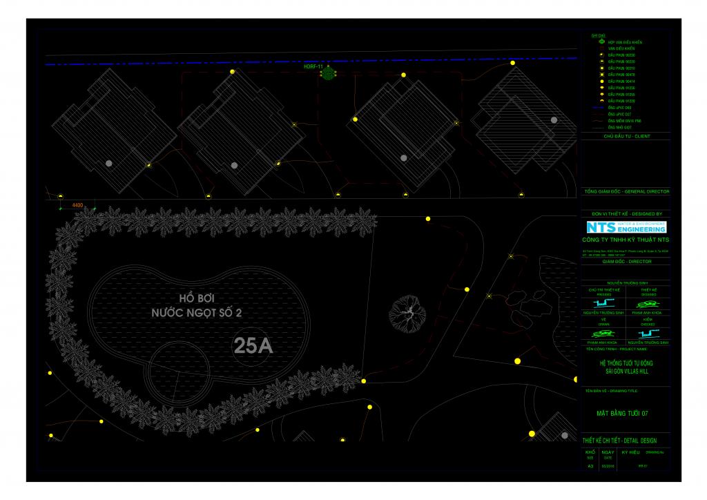 01 IRR CARMALINA 20 07 201 r3 DM Model 1 Bản vẽ AutoCad và thuyết minh thiết kế hệ thống tưới tự động khu resort Carmelina Hồ Tràm