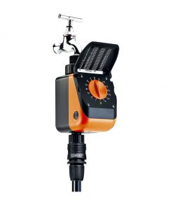 Bộ timer hẹn giờ tưới cây tự động tích hợp van điện từ nước Aquauno Logica Plus 8419. Hệ thống thiết bị tưới nhỏ giọt phun mưa cao cấp.