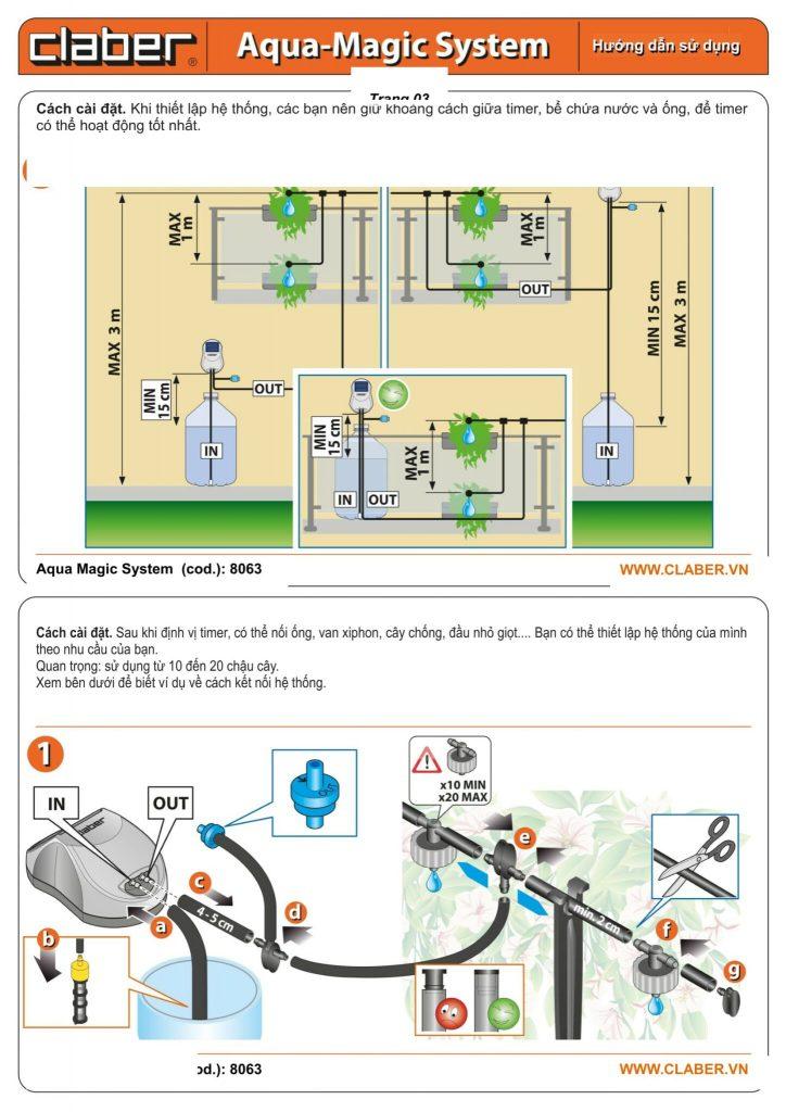 HDSD 8063 Tr03 1 Hướng dẫn sử dụng hệ thống tưới ban công Aqua Magic [8063]