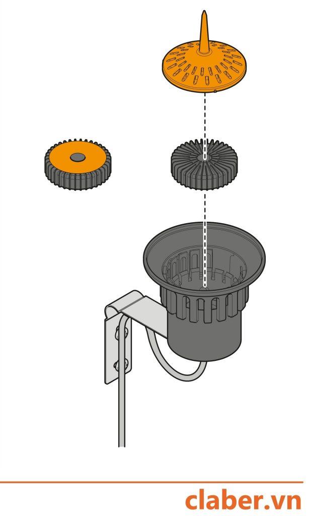 90915 cam bien mua Tr1 1 624x1024 Sơ lược về nguyên lý hoạt động của cảm biến mưa Claber có dây 90915