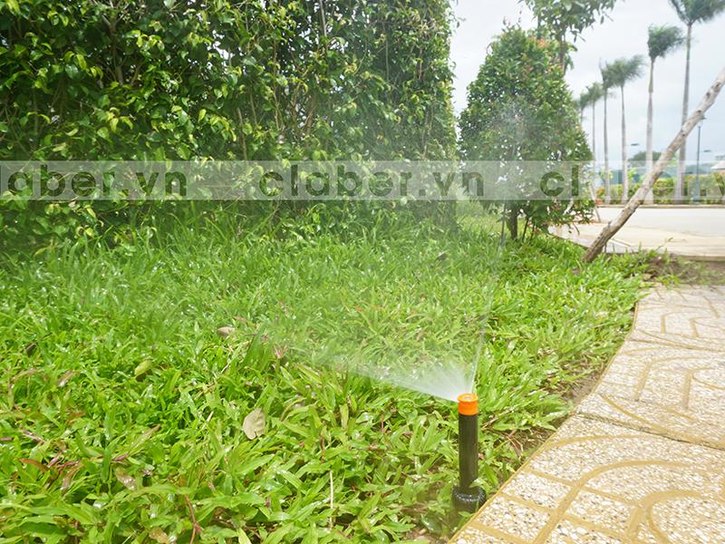 hệ thống tưới phun mưa vỉa hè