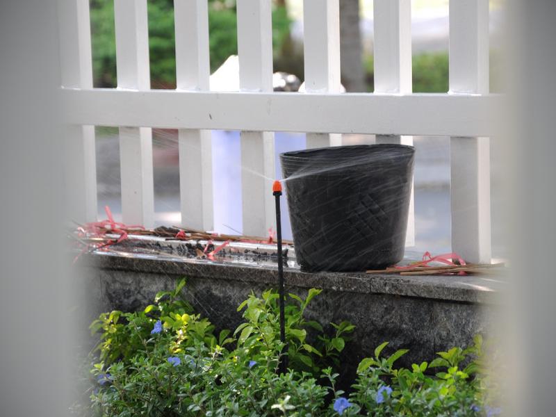 thiet bi tuoi Kinh nghiệm chăm sóc vườn cây trên mái với thiết bị tưới phun sương