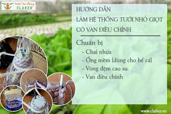 cach lam he thong tuoi nho giot bang chai nhua 1 Hướng dẫn bạn cách làm hệ thống tưới nhỏ giọt bằng chai nhựa đơn giản