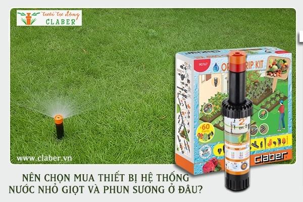 thiet bi tuoi nho giot 3 Nên lựa chọn thiết bị hệ thống tưới nhỏ giọt hay phun mưa?